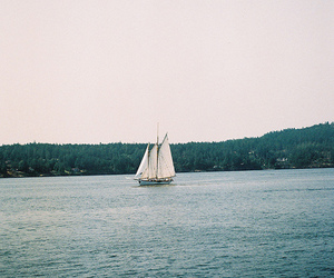 boat, vintage, and sea image