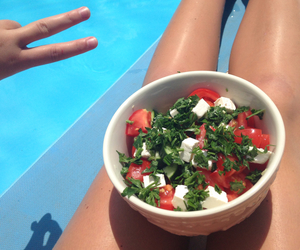 beach, food, and healthy image