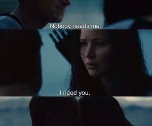 love, peeta, and katniss image
