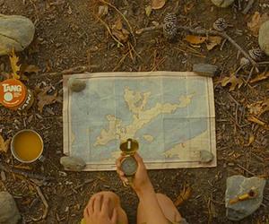moonrise kingdom, map, and compass image
