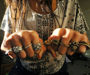 cool, girl, and rings image