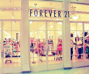 forever 21, store, and shopping image