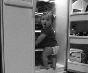 baby, cute, and fridge image