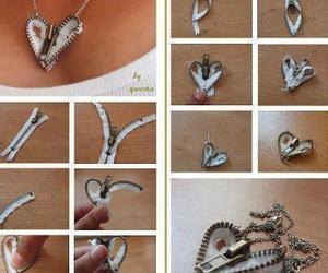 bijoux, heart, and white image