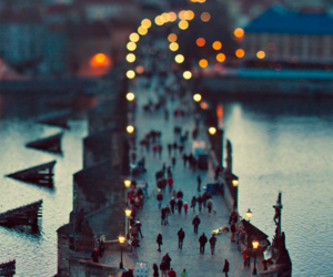 light, city, and people image