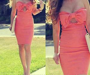 bow, fashion, and pink dress image
