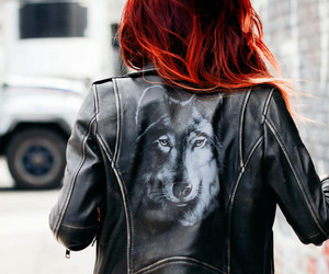 wolf, red, and hair image