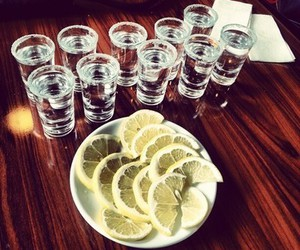 tequila, drink, and lemon image