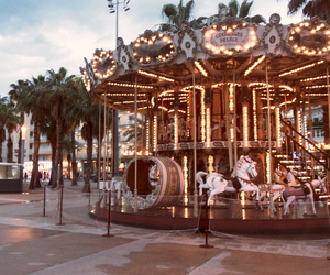 beauty, carousel, and childhood image