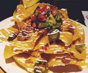 food, mexican food, and nacho image
