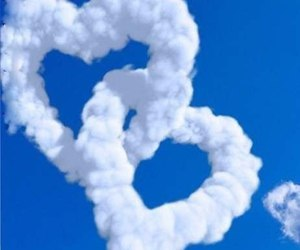 sky, cloud, and heart image
