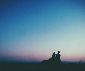 couple, sky, and love image
