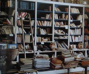 books, library, and grunge image