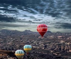 balloon, cappadocia, and city image