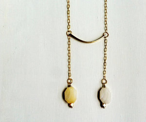 hand made, tribal, and minimalist necklace image