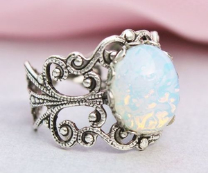 ring, vintage, and opal image