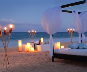 beach, love, and lights image
