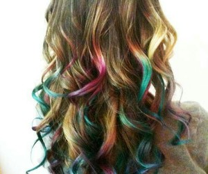 beautiful, hair, and colourful image
