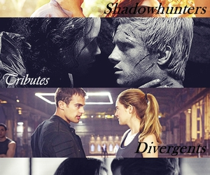 divergent, the hunger games, and percy jackson image