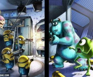minions, despicable me, and monsters inc image