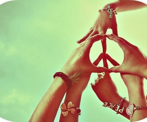 cool, peace, and charm bracelets image