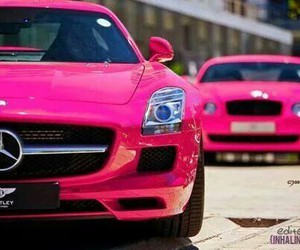 car, pink, and marcedes image