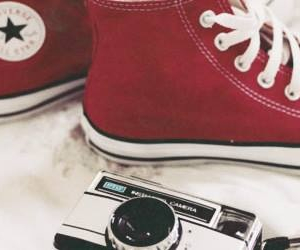 red, header, and converse image
