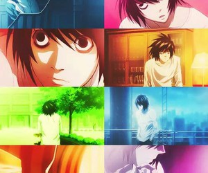 L, anime, and death note image