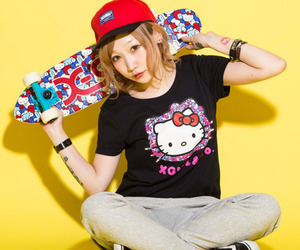 cap, hello kitty, and japan image