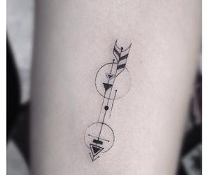 tattoo, arrow, and black image