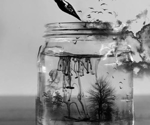 art, water, and ink image