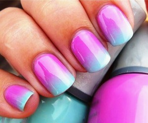 nail and blue and purple image