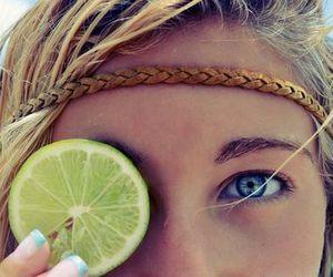 girl, summer, and lemon image