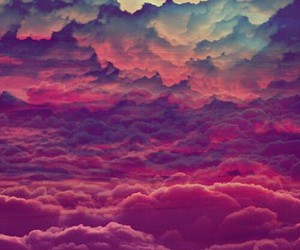 clouds, sky, and colored image