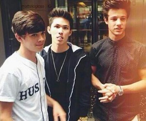 cameron dallas, hayes grier, and carter reynolds image