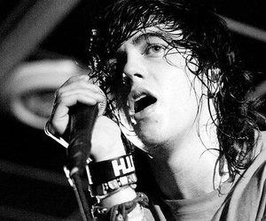 kellin quinn, sleeping with sirens, and black and white image