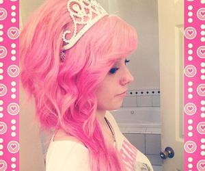pink hair, alternative, and dyed hair image