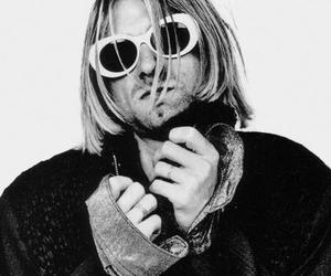 kurt cobain, glasses, and grunge image