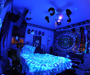 room, blue, and light image
