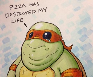 pizza, fat, and funny image
