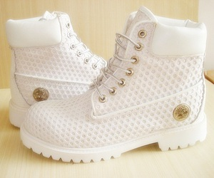 shoes, white, and timberland image