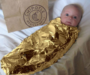 baby, funny, and chipotle image