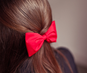 fashion, hear, and red bow image