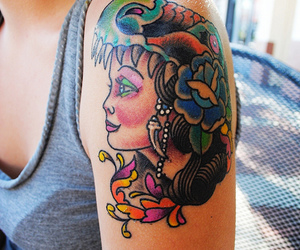 girl, tattoo, and people image