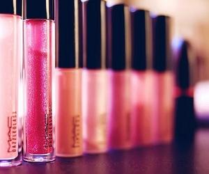 pink, mac, and lipgloss image