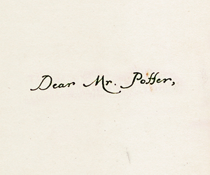 harry potter, potter, and Letter image