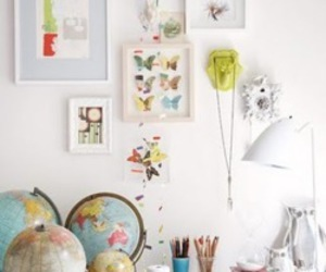 butterfly, decor, and design image