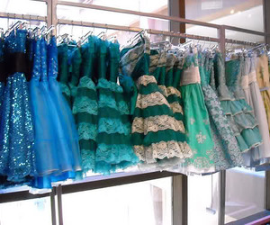 dress, blue, and green image
