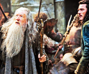 gandalf, the hobbit, and bard image