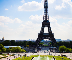 paris, eiffel tower, and view image